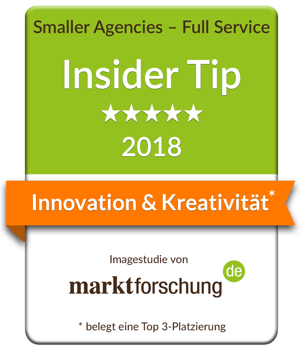 marktforschung.de Innovation & Kreativität Top 3