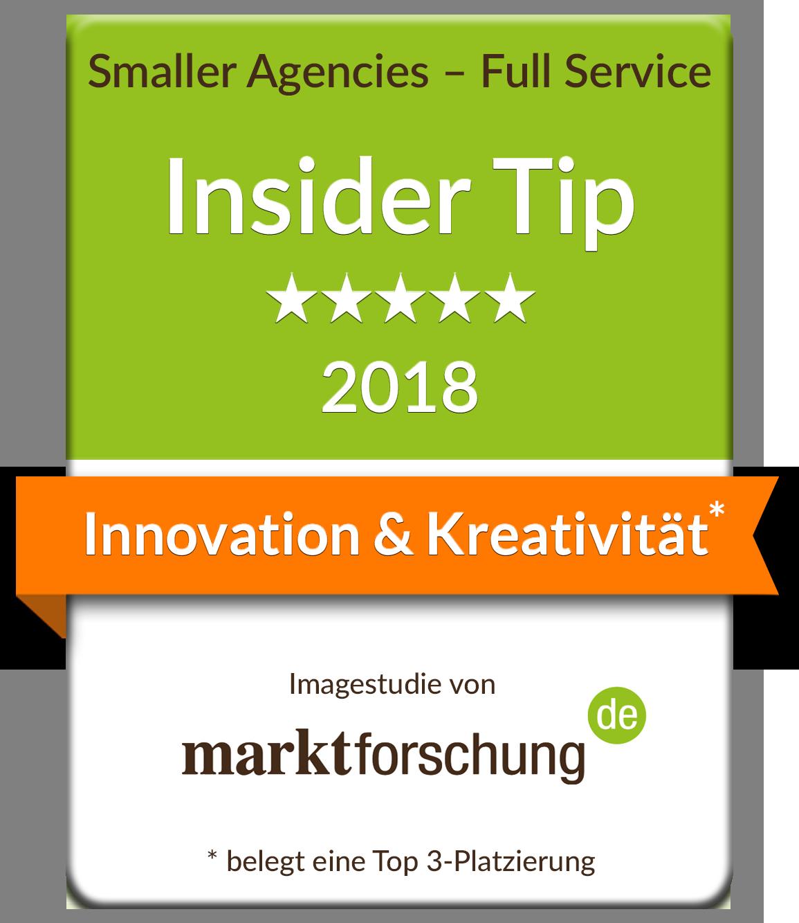 marktforschung.de Innovation & Kreativität Top 3