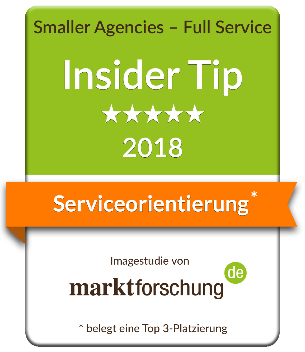 marktforschung.de Serviceorientierung Top 3